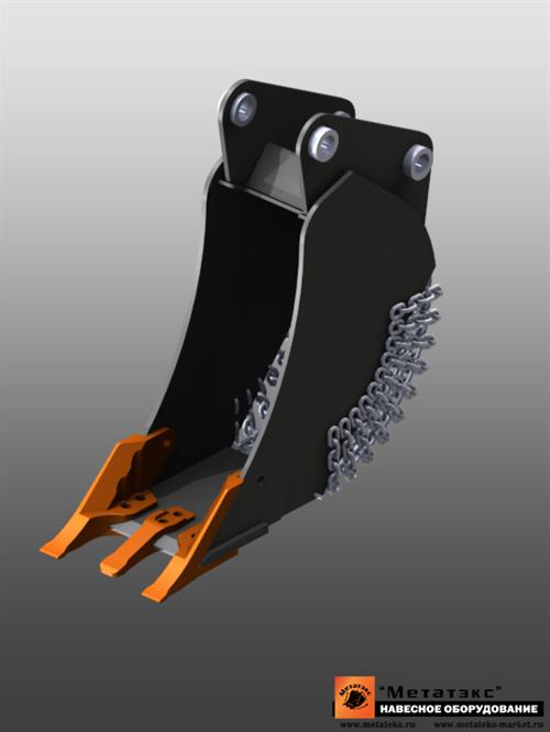 Ковш специальный траншейный для экскаваторов-погрузчиков (300 мм) - фото 23259