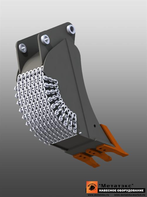 Ковш специальный траншейный для экскаваторов-погрузчиков (400 мм) - фото 23262