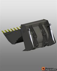 Ковш универсальный 4 в 1 (двухчелюстной) для JCB 3cx 1 куб. метр (2400 мм)