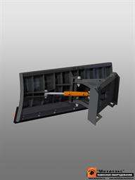 Снеговой отвал для мини-погрузчика 1800 мм  (гидравлический  поворот)