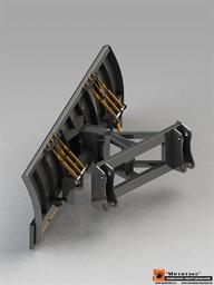 Снеговой отвал для мини-погрузчика 2000 мм  (гидравлический  поворот)